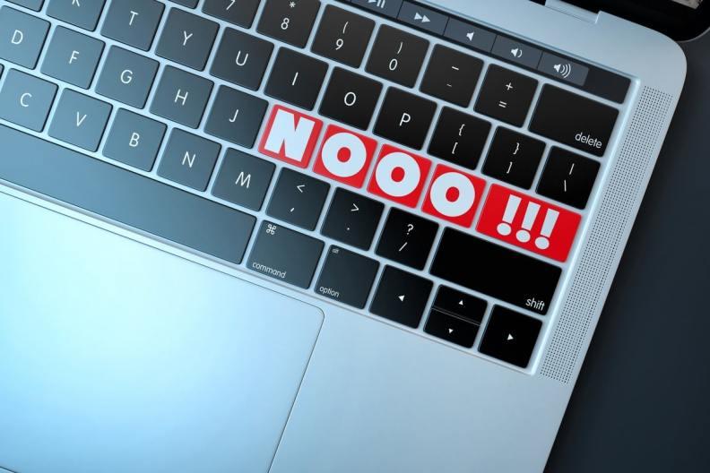 NOOO-Text-sign-on-computer-keyboard-7357